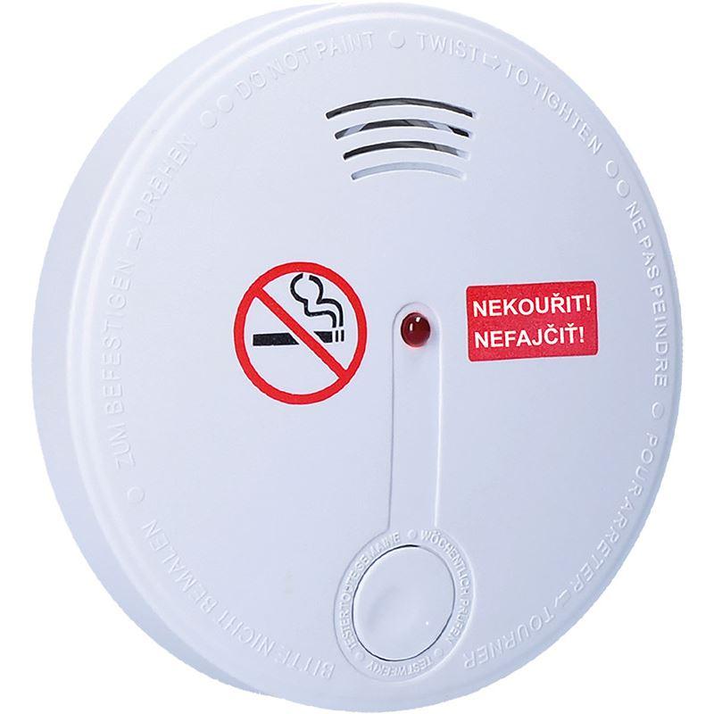 Solight detektor cigaretového kouře + alarm, 85dB, bílý + 9v baterie
