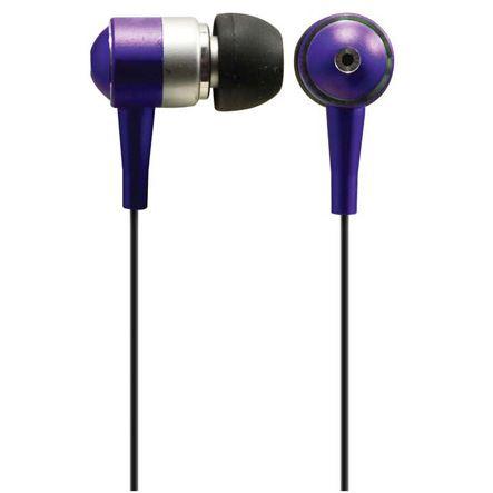 Solight sluchátka, pecky, 10mm, metalická barva, fialová