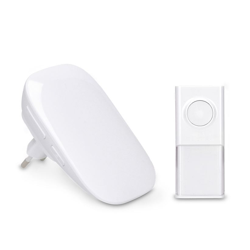 Solight bezdrátový zvonek, do zásuvky, 150m, bílý, learning code