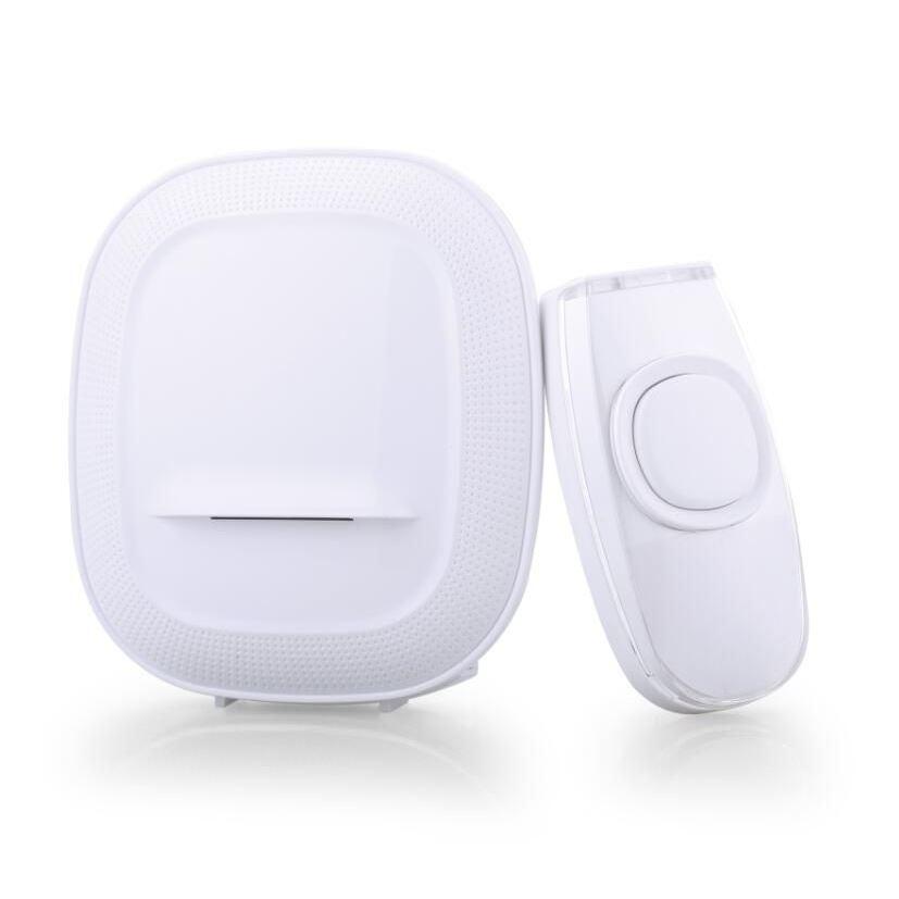 Solight bezdrátový zvonek, bateriový, 200m, bílý, learning code