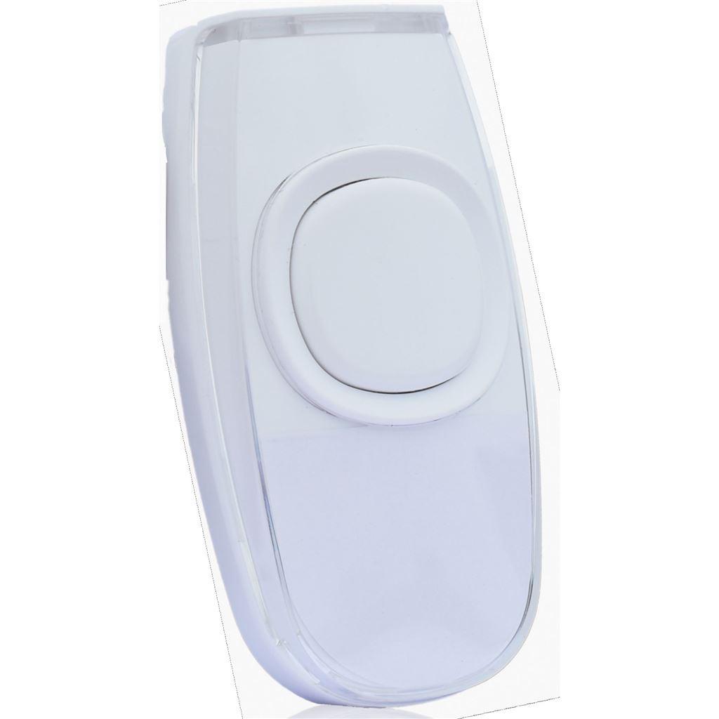 Solight bezdrátové tlačítko pro 1L62 a 1L63, 200m, bílé, learning code, kryt na jmenovku
