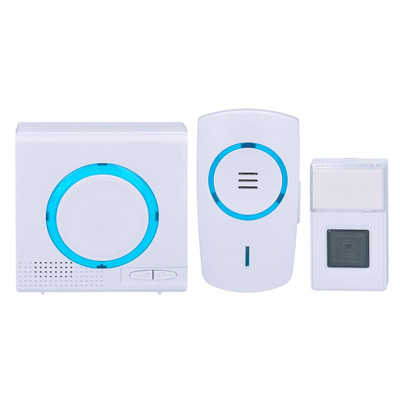 Solight sada bezdrátových zvonků, 1x do zásuvky + 1x bateriový, 120m, bílý, learning code