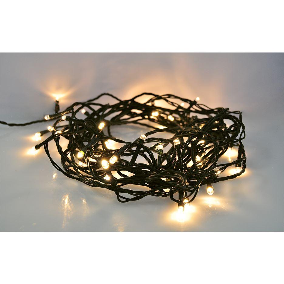 Solight LED vánoční řetěz, 500 LED, 50m, přívod 5m, IP44, teplá bílá