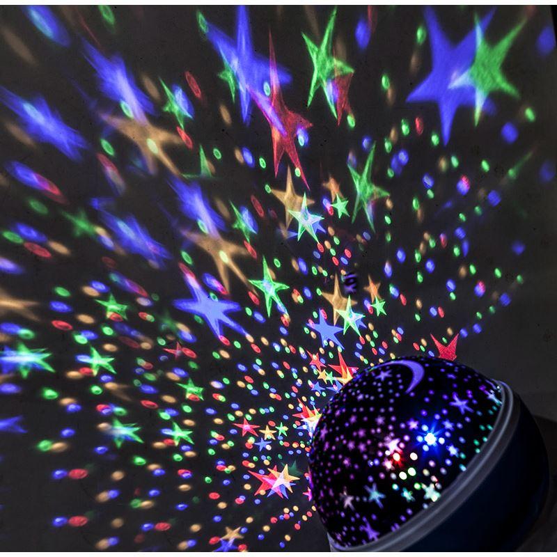 Solight LED vánoční projekční koule, multicolor, 9 režimů, otáčení, USB, 4x AAA