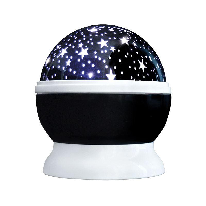 Solight LED projekční koule, multicolor, 9 režimů, otáčení, USB, 4x AAA
