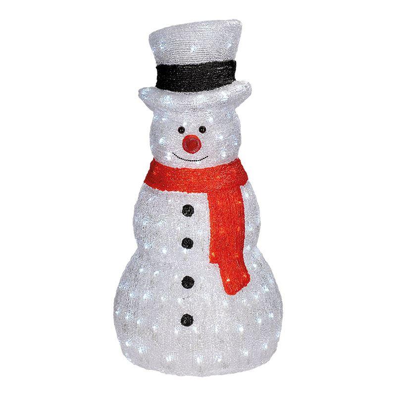 Solight LED sněhulák venkovní 160LED, studená bílá, 230V, IP44, výška 75cm