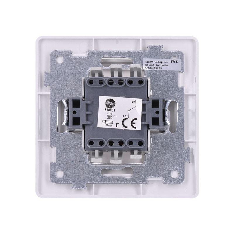 Solight vypínač Slim č. 1 jednopólový, bílý
