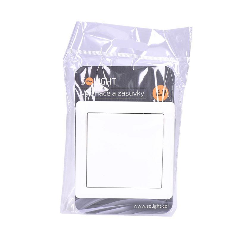 Solight vypínač Slim č. 7 křížový, bílý
