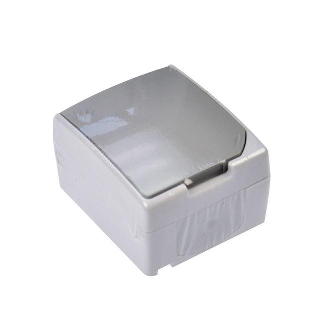 Solight zásuvka do vlhka IP54, šedá