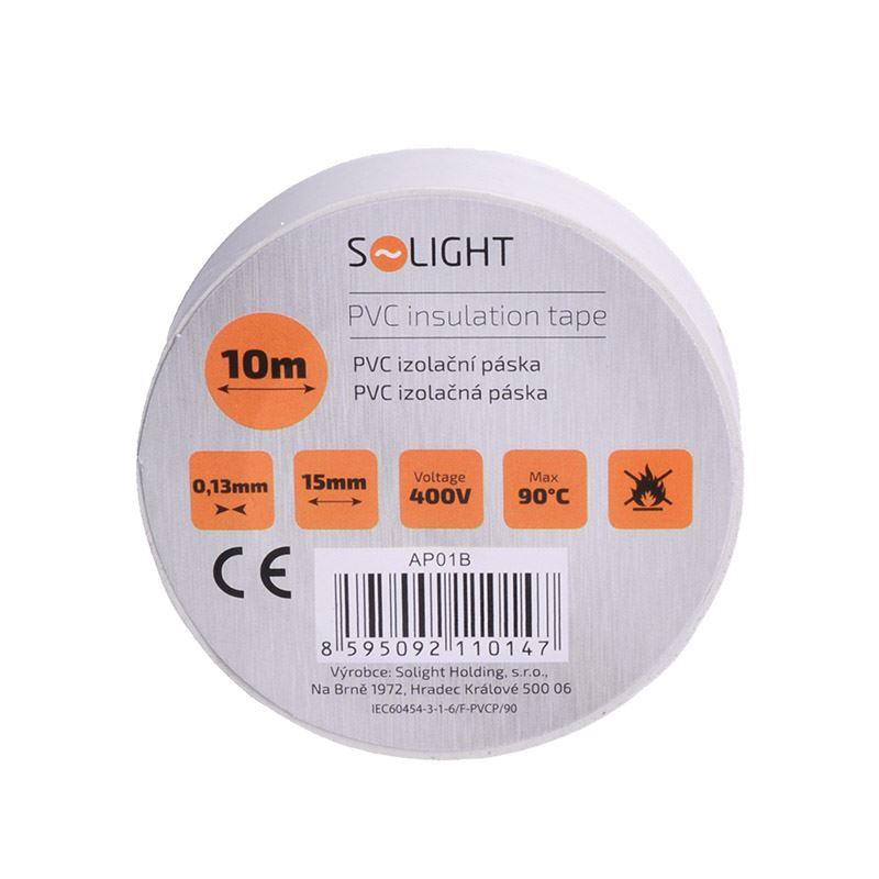 Solight izolační páska, 15mm x 0,13mm x 10m, bílá
