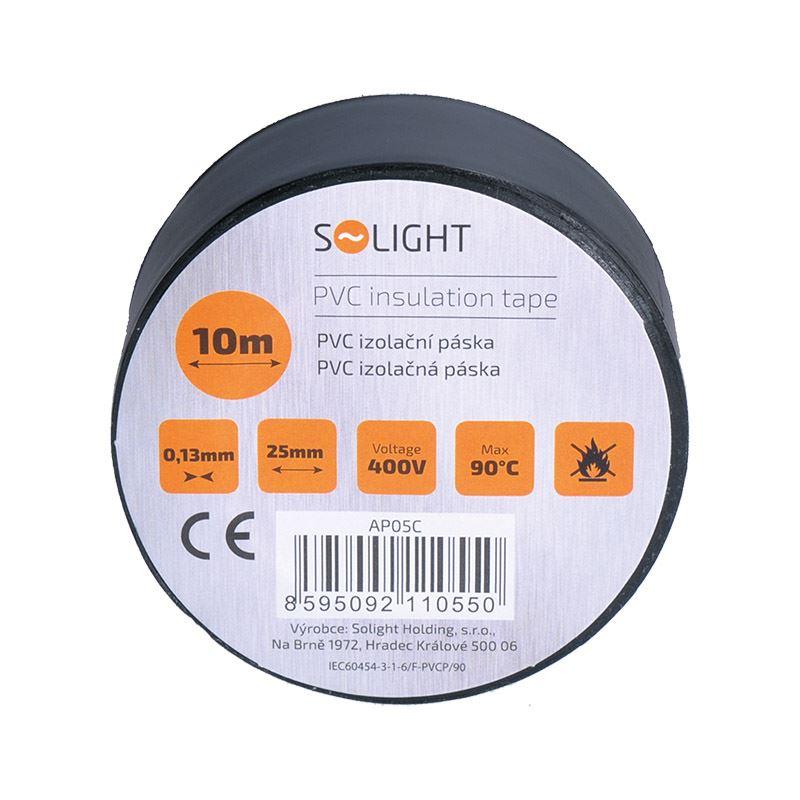 Solight izolační páska, 25mm x 0,13mm x 10m, černá