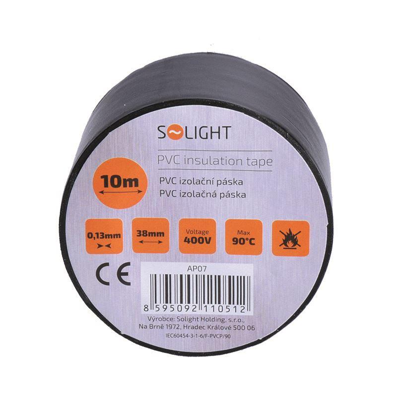 Solight izolační páska, 38mm x 0,13mm x 10m, černá