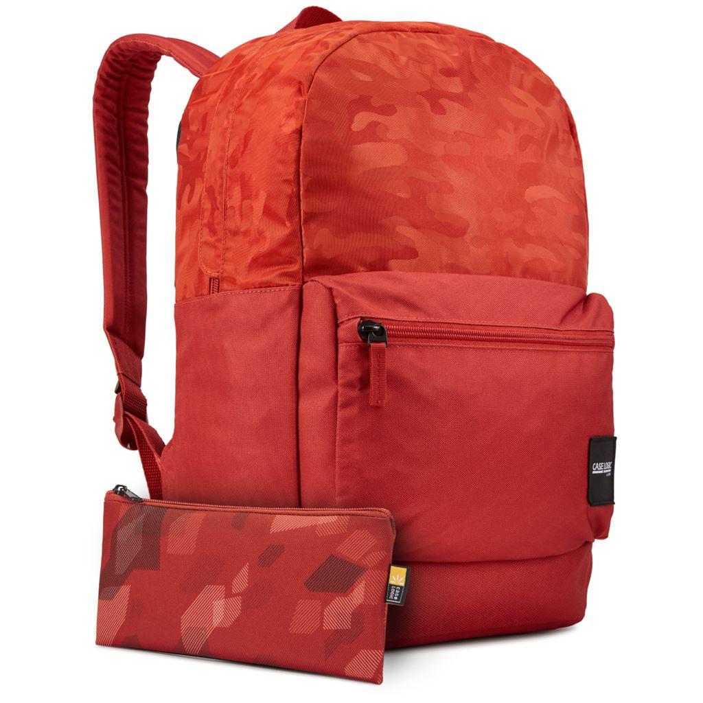 Case Logic Founder batoh 26L CCAM2126 - cihlově červený se vzorem