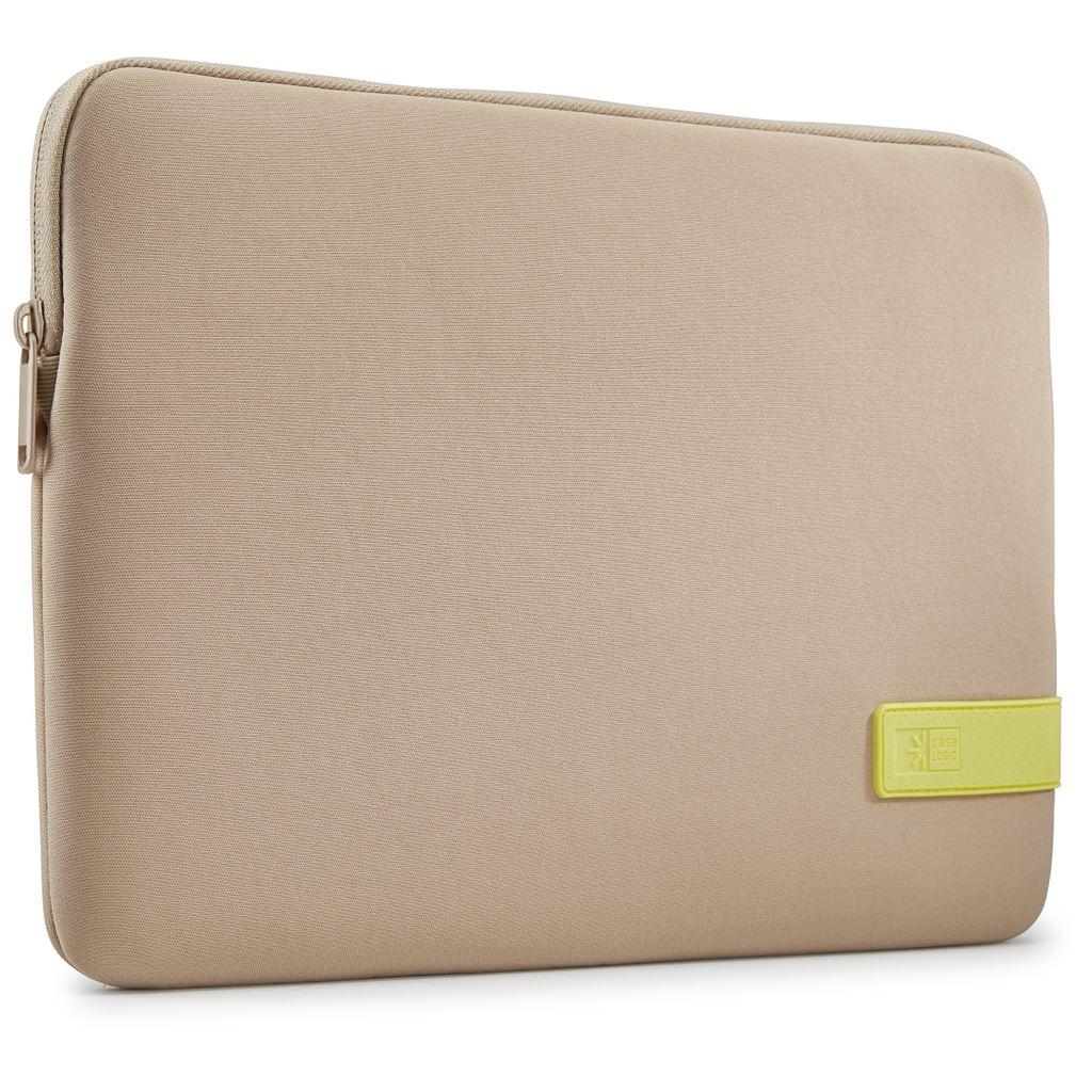"Case Logic Reflect pouzdro na 13"" Macbook Pro® REFMB113 - Plaza Taupe/Sunny Lime"