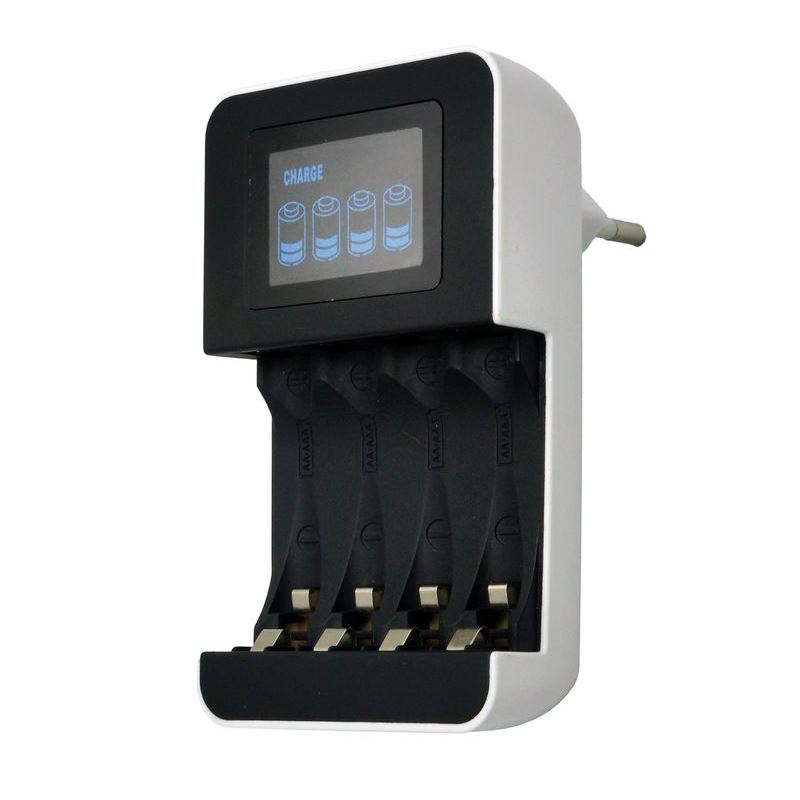 Solight nabíječka s LCD displejem, AC 230V, 450mA, 4 kanály, AA/AAA, řízená mikroprocesorem