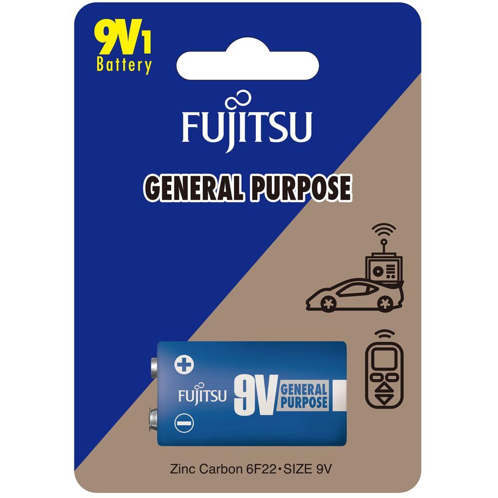 Fujitsu zinková baterie 9V, blistr 1ks