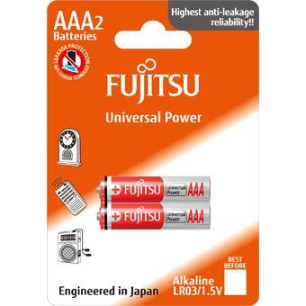 Fujitsu Universal Power alkalická baterie LR03/AAA, blistr 2ks