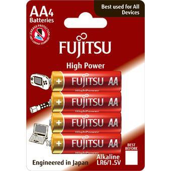 Fujitsu High Power alkalická baterie LR06/AA, blistr 4ks