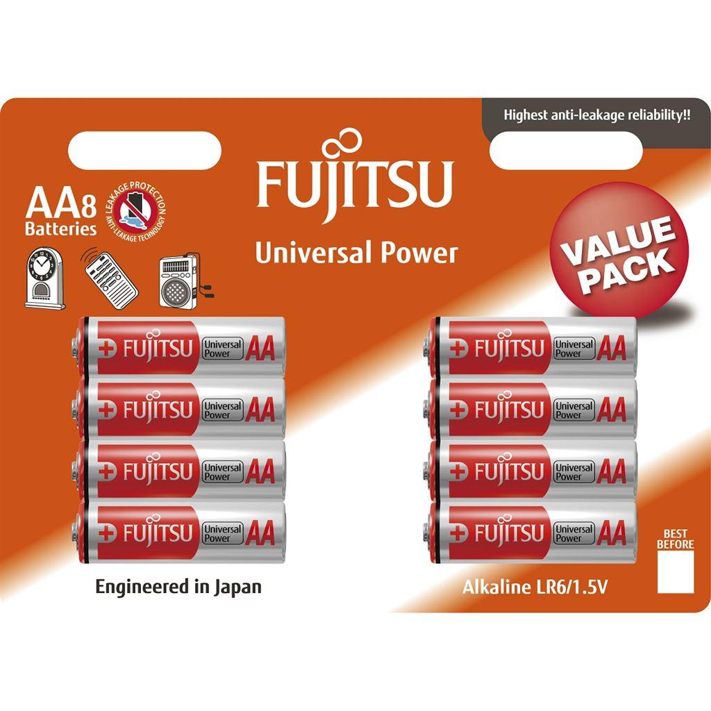 Fujitsu Universal Power alkalická baterie LR06/AA, blistr 8ks