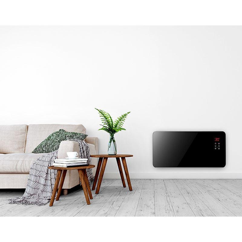 Solight horkovzdušný konvektor sklokeramický 2000W, WiFi, LCD, nastavitelný termostat, časovač