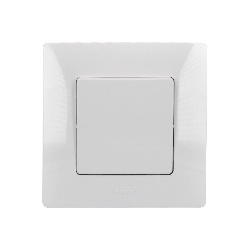Solight vypínač Legrand Niloé č. 1/0, zvonkový, bílý, včetně rámečku