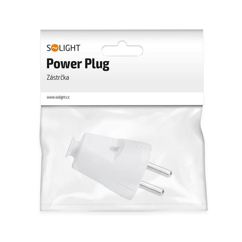 Solight zástrčka přímá, IP20, bílá