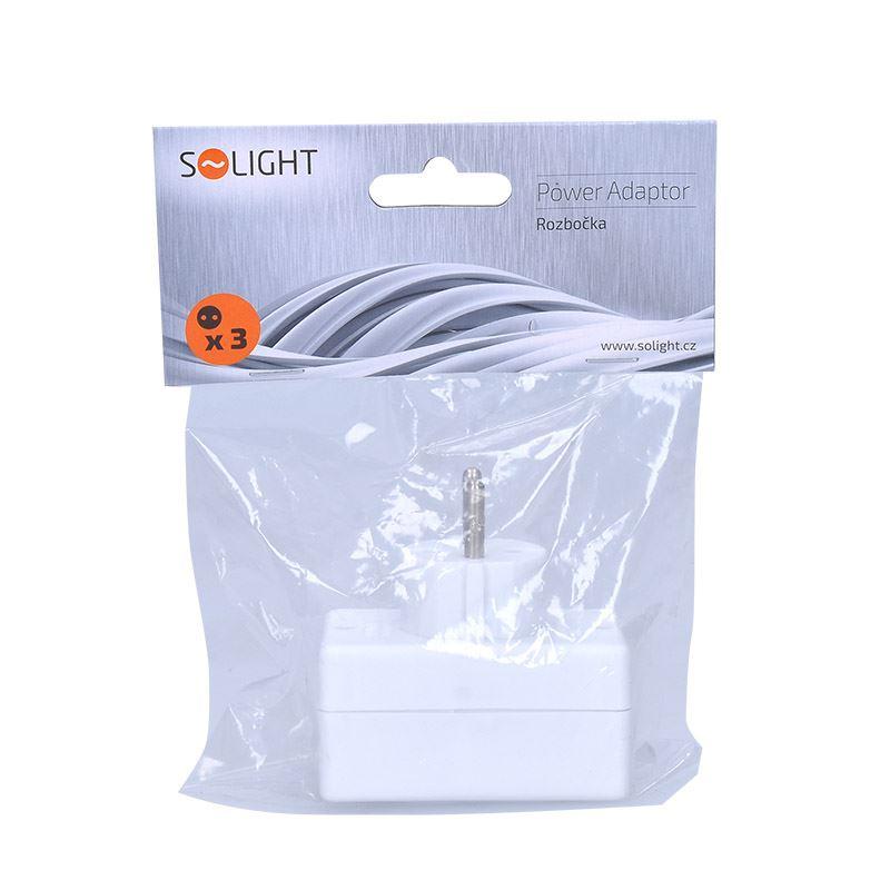 Solight rozbočka, 3x 2,5A, bílá