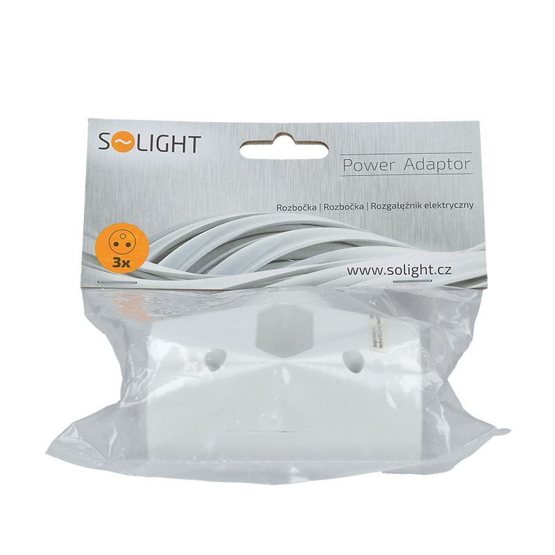 Solight rozbočka, 2,5A + 2x 10A, bílá