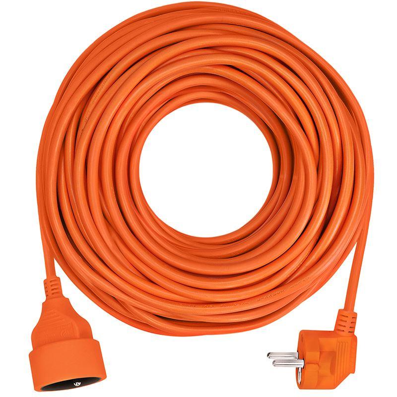 Solight prodlužovací kabel - spojka, 1 zásuvka, oranžová, 30m