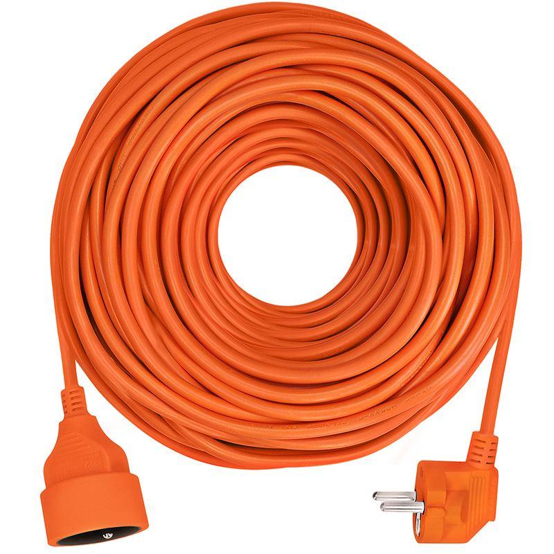 Solight prodlužovací přívod - spojka, 1 zásuvka, 40 m, 3 x 1,5mm2, oranžová
