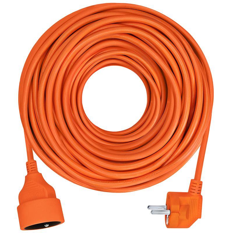 Solight prodlužovací přívod - spojka, 1 zásuvka, 10m, 3 x 1mm2, oranžová