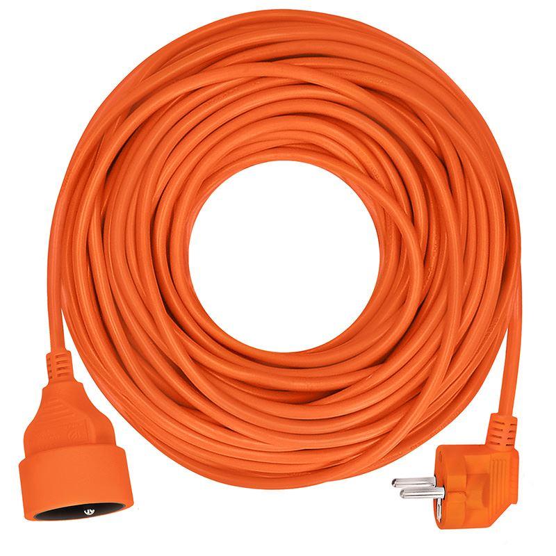 Solight prodlužovací přívod - spojka, 1 zásuvka, 20m, 3 x 1mm2, oranžová