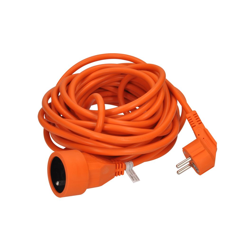 Solight prodlužovací přívod - spojka, 1 zásuvka, 15m, 3 x 1mm2, oranžová