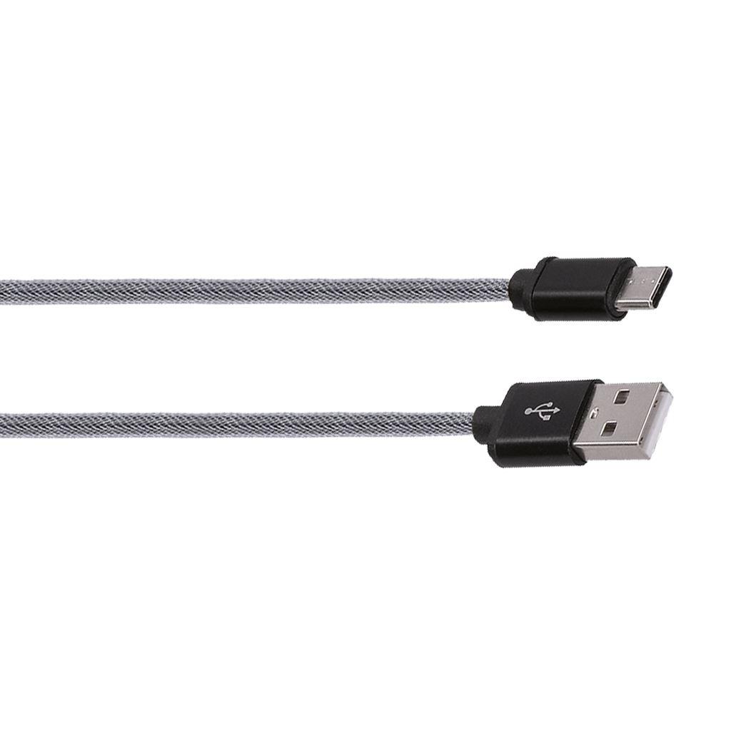 Solight USB-C kabel, USB 2.0 A konektor - USB-C 3.1 konektor, blistr, 1m