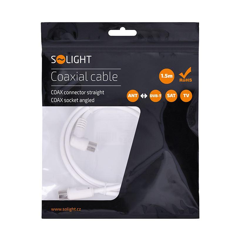 Solight účastnická šňůra, kombinované konektory, 1,5m, sáček
