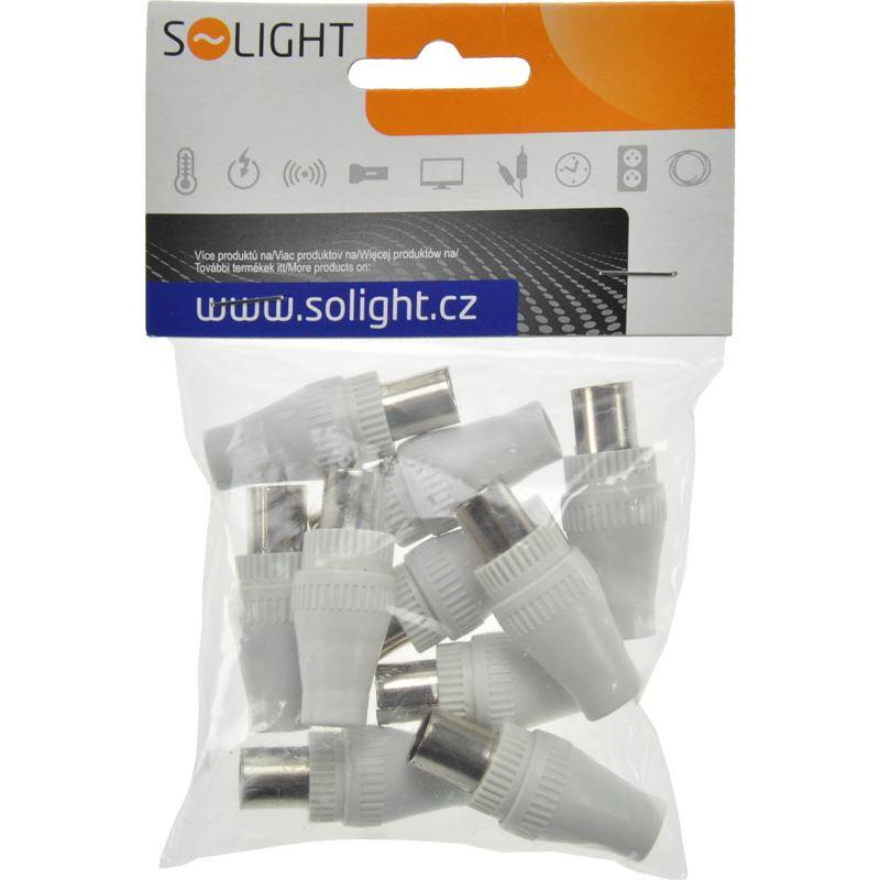 Solight anténní COAX zdířka přímá - typ Itálie, 10ks, sáček