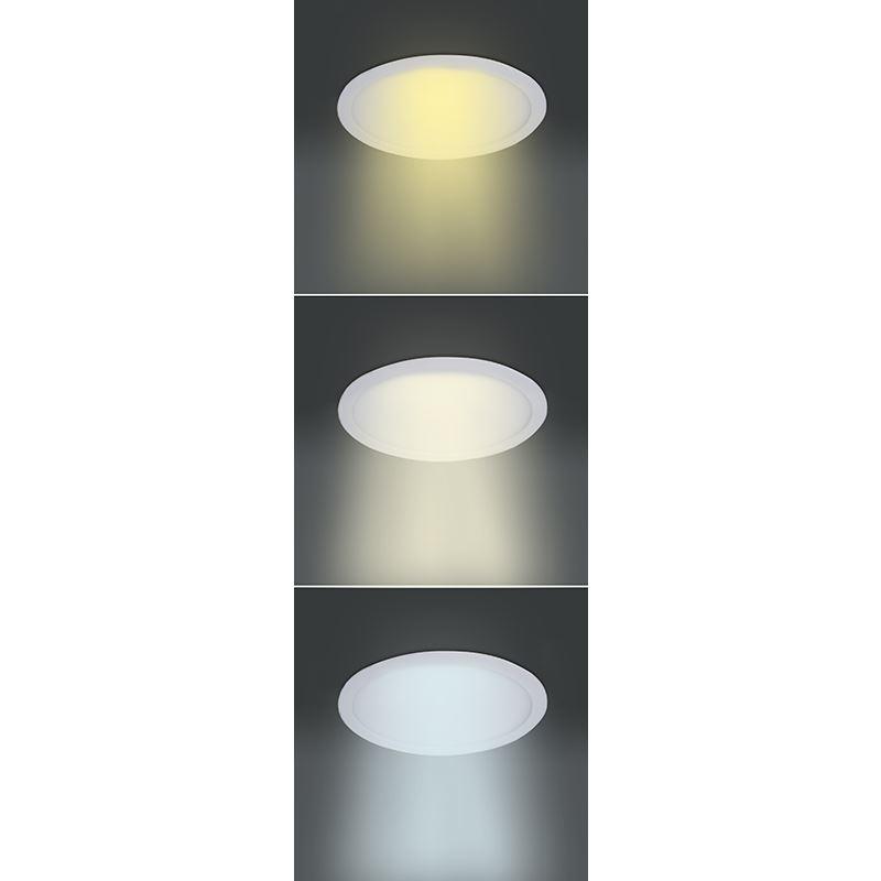 Solight LED mini panel CCT, podhledový, 24W, 1800lm, 3000K, 4000K, 6000K, kulatý