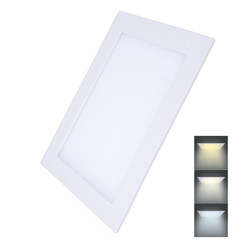 Solight LED mini panel CCT, podhledový, 24W, 1800lm, 3000K, 4000K, 6000K, čtvercový
