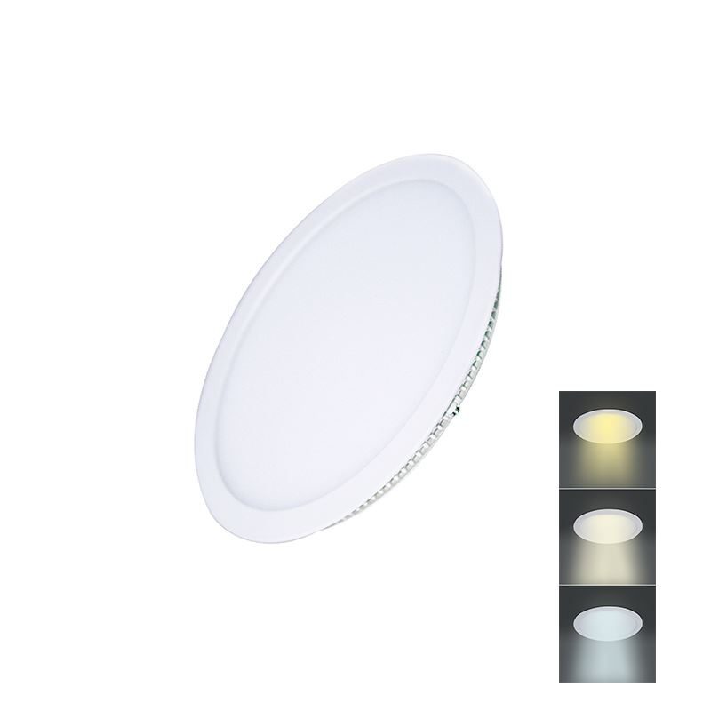 Solight LED mini panel CCT, podhledový, 6W, 450lm, 3000K, 4000K, 6000K, kulatý