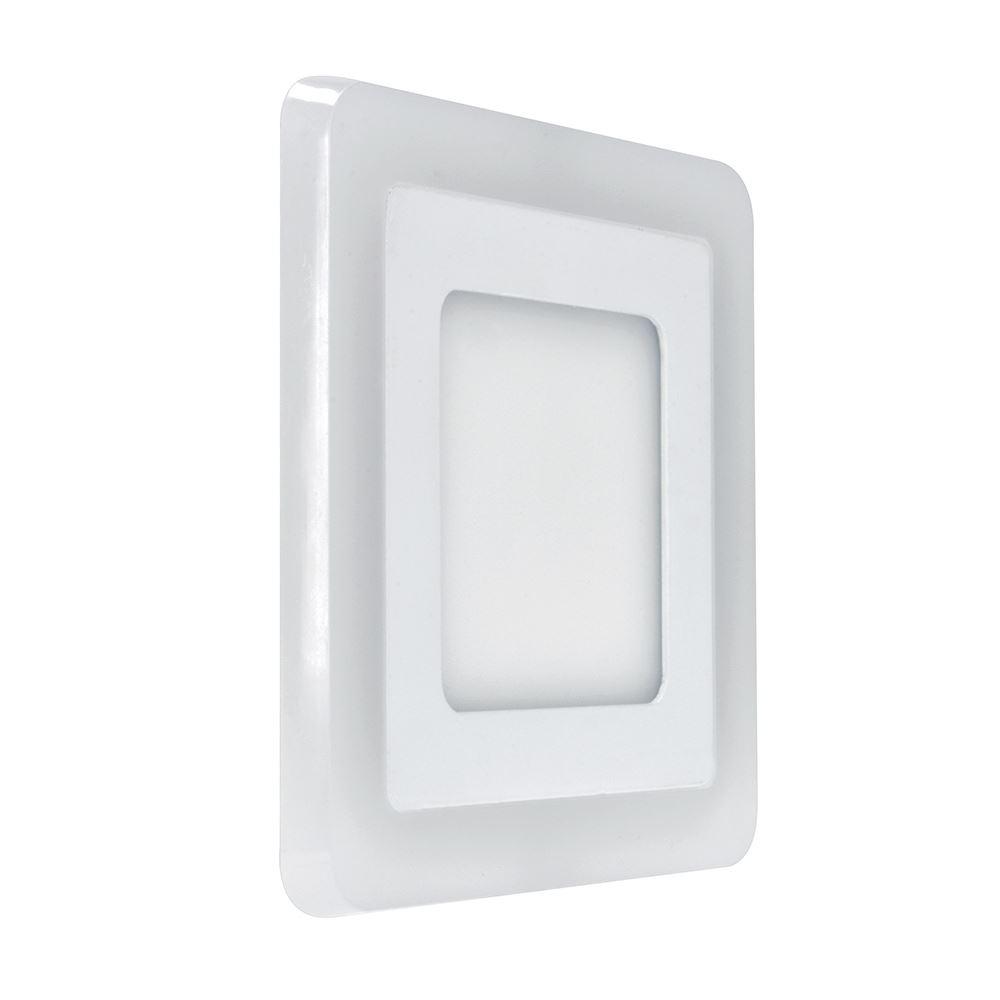 Solight LED podsvícený panel, podhledový, 12W+4W, 900lm, 4000K, čtvercový