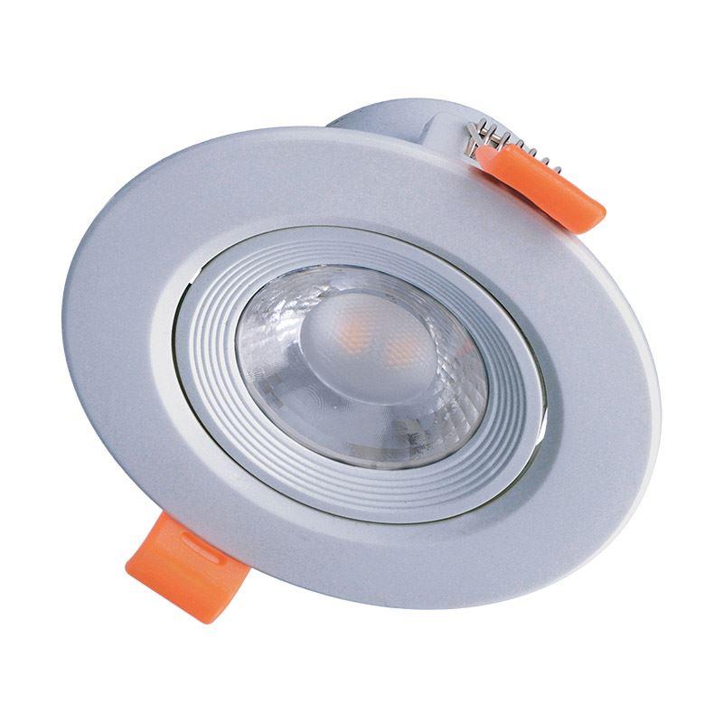 Solight LED podhledové světlo bodové, 9W, 720lm, 4000K, kulaté, stříbrné