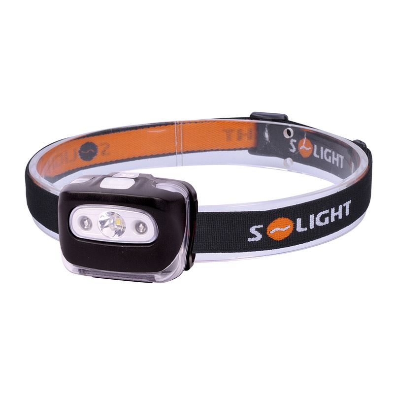 Solight čelová LED svítilna, 3W + červené světlo, 3x AAA