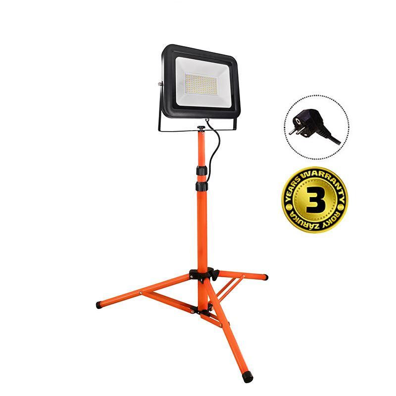 Solight LED venkovní reflektor PRO s vysokým stojanem, 100W, 8500lm, kabel se zástrčkou, AC 230V