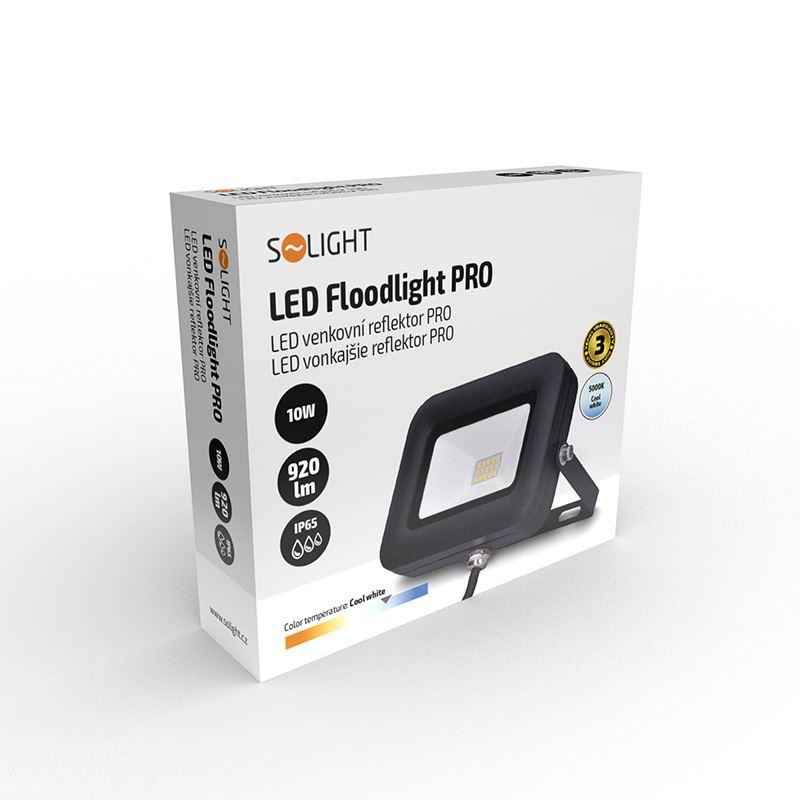 Solight LED reflektor PRO, 10W, 850lm, 5000K, IP65