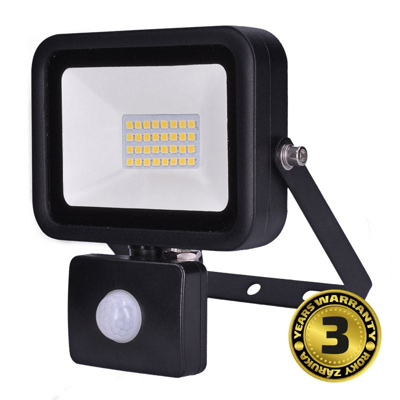 Solight LED reflektor PRO se senzorem, 30W, 2550lm, 5000K, IP44
