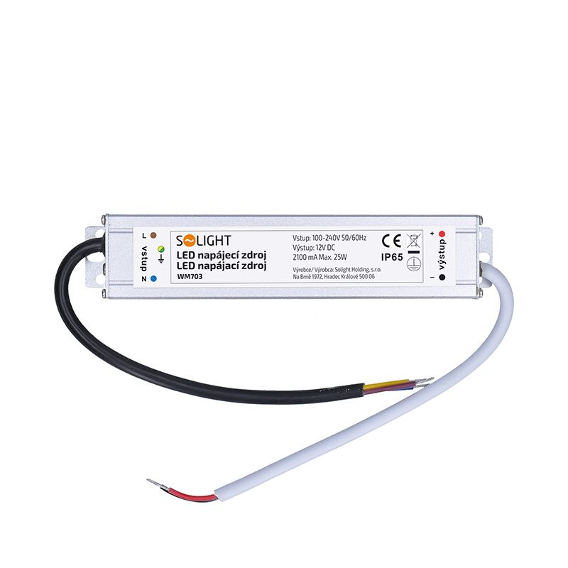 Solight LED napájecí zdroj, 230V - 12V, 2.1A, 25W, IP65