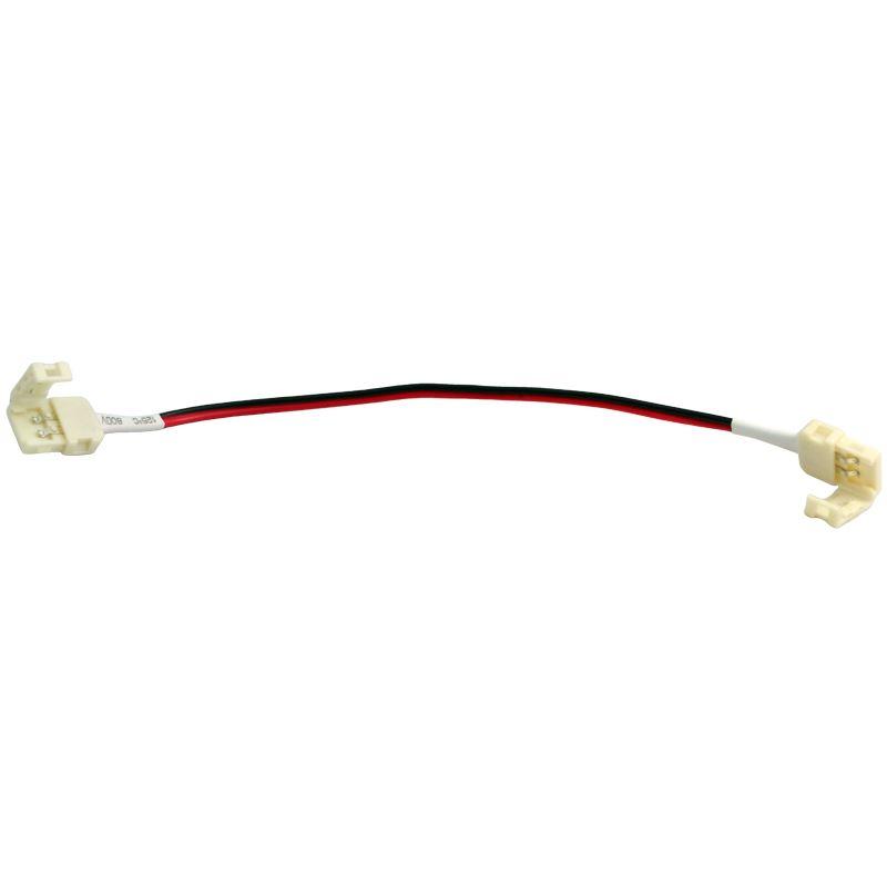 Solight propojovací kabel pro LED pásy, 8mm zacvakávací konektor na obou stranách, 1ks, sáček