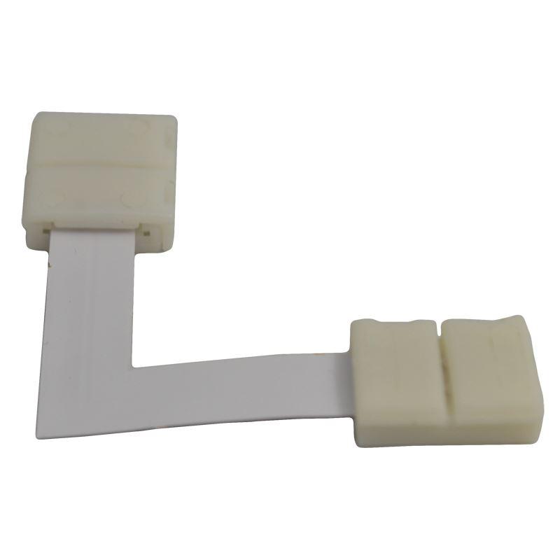 Solight propojovací pravoúhlý konektor pro LED pásy, 10mm zacvakávací konektor na obou stranách, 1ks, sáček