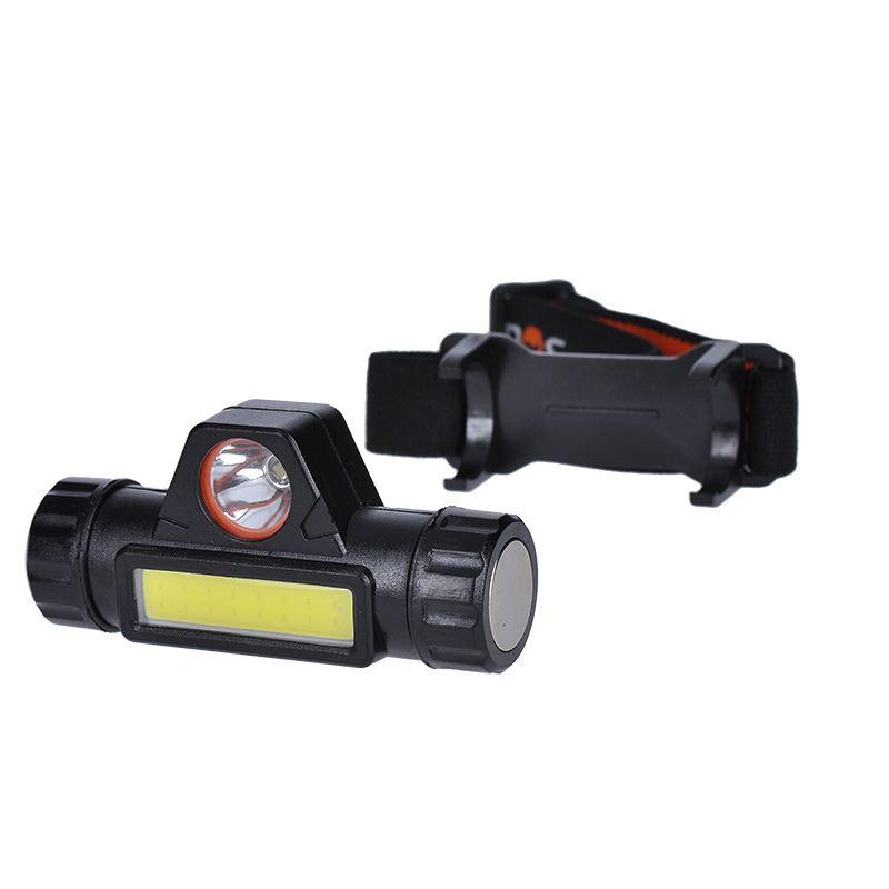 Solight LED čelová nabíjecí svítilna, 3W + COB,150 + 120lm, Li-ion, USB
