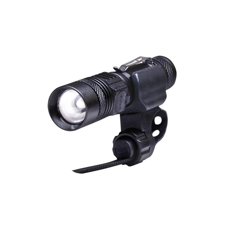 Solight nabíjecí LED svítilna s cyklo držákem, 400lm, fokus, Li-Ion, USB